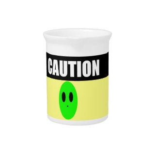 Precaución extranjera jarron