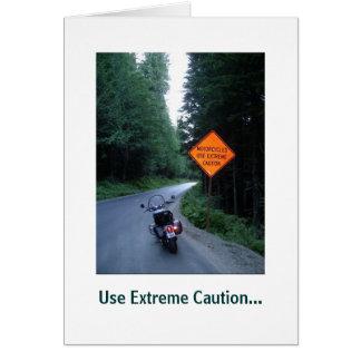 Precaución extrema, tarjeta de felicitación