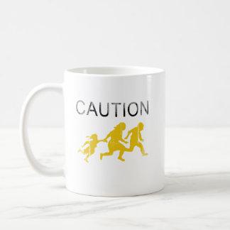 Precaución Faded png Tazas De Café