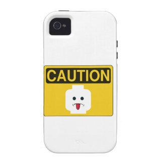 PRECAUCIÓN: La CABEZA GROSERA de MINIFIG cerca mod iPhone 4 Funda