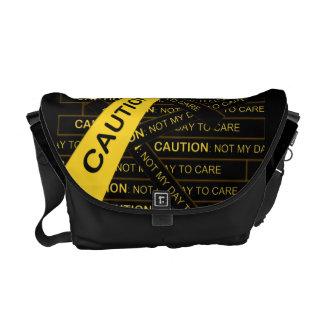 Precaución no mi día para cuidar la bolsa de mensa bolsa de mensajería