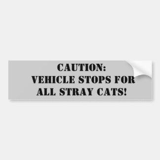 Precaución: ¡Paradas del vehículo para todos los g Pegatina Para Auto