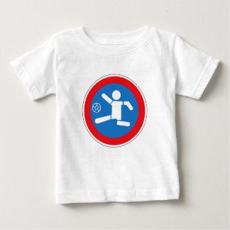 Precaución que juega a los niños, señal de playera de bebé