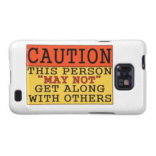 Precaución Samsung Galaxy S2 Carcasa