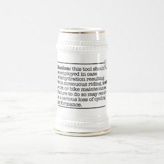 Precaución Stein Jarra De Cerveza