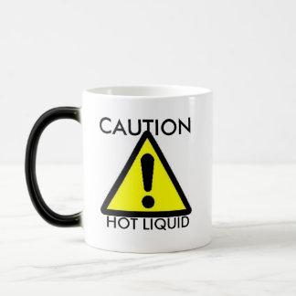 Precaución: Taza sensible al calor líquida