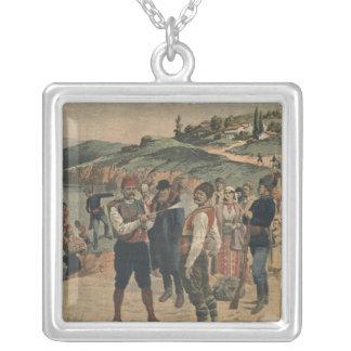 Precautions taken to prevent cholera square pendant necklace