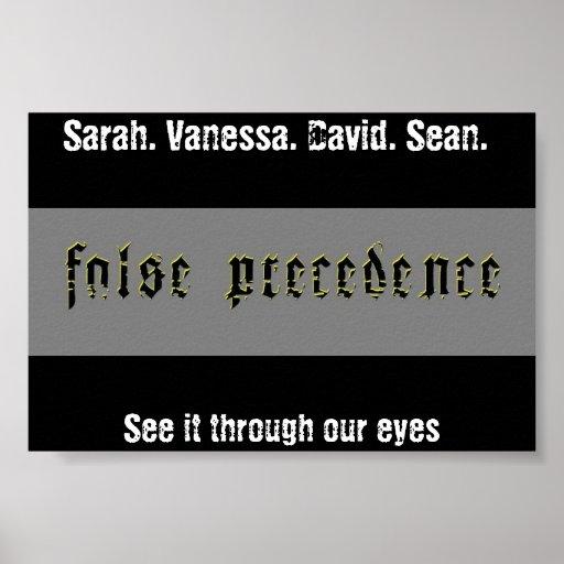 Precedencia falsa póster
