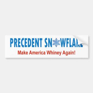 Precedent Snowflake Bumper Sticker