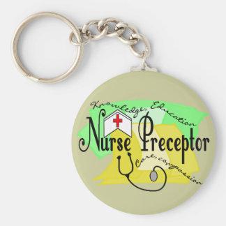 Preceptor de la enfermera llavero redondo tipo pin