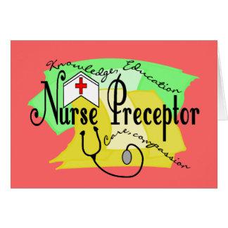Preceptor de la enfermera tarjeta de felicitación