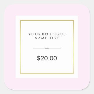 Precio al por menor atractivo elegante del rosa y pegatina cuadrada