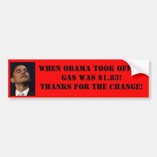 Precio de la gasolina de Obama Bumpersticker Pegatina Para Auto