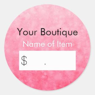 Precio rosado moderno de la venta al por menor del pegatina redonda