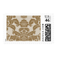 Precioius Metal Gold Damask by Ceci New York Stamps