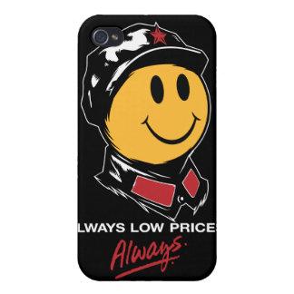 precios bajos siempre sonrientes de mao de la cara iPhone 4/4S carcasa
