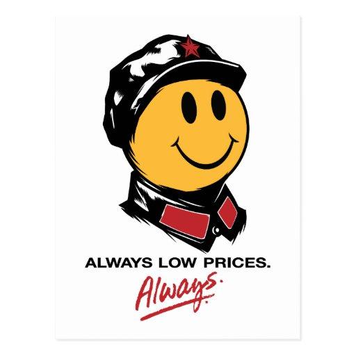 precios bajos siempre sonrientes de mao de la cara postal