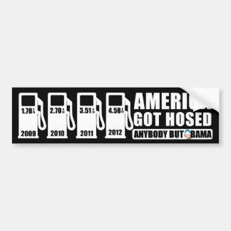 Precios de la gasolina - cualquiera pero Obama Pegatina Para Auto