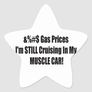 Precios de la gasolina de F Im todavía que cruza Pegatina En Forma De Estrella
