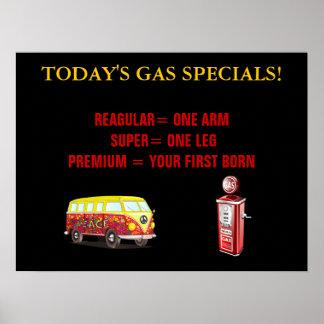 Precios de la gasolina de hoy póster