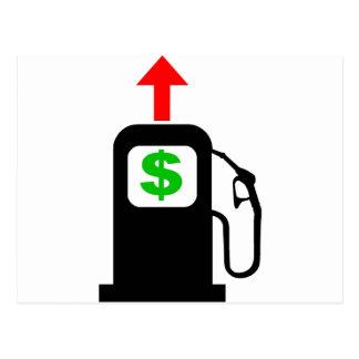 Precios de la gasolina de levantamiento tarjetas postales