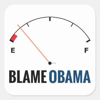 Precios de la gasolina de Obama Pegatina Cuadrada