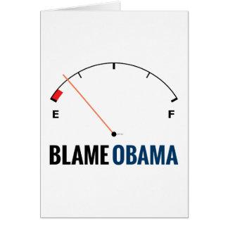 Precios de la gasolina de Obama Tarjeta De Felicitación