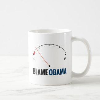 Precios de la gasolina de Obama Taza Clásica