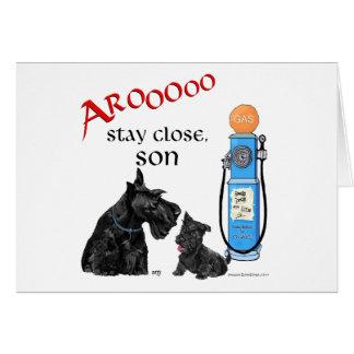 ¡Precios de la gasolina de Terrier del escocés!! Tarjeta De Felicitación