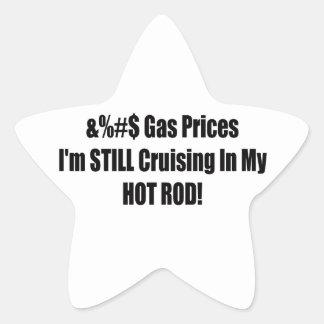 Precios de la gasolina Im todavía que cruza en mi Pegatina En Forma De Estrella