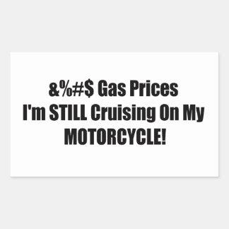 Precios de la gasolina Im todavía que cruza en mi Pegatina Rectangular