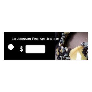 Precios de la mercancía de la joyería tarjeta personal