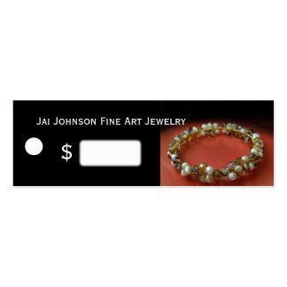 Precios de la mercancía de la joyería tarjetas de visita