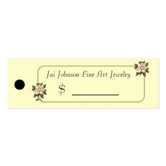 Precios de la mercancía (flores de la magnolia) plantillas de tarjetas de visita