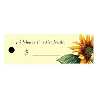 Precios de la mercancía (girasol) plantillas de tarjetas de visita