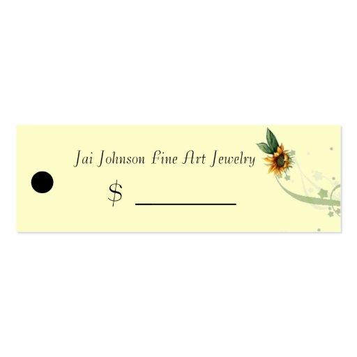 Precios de la mercancía (girasoles) tarjetas de visita mini