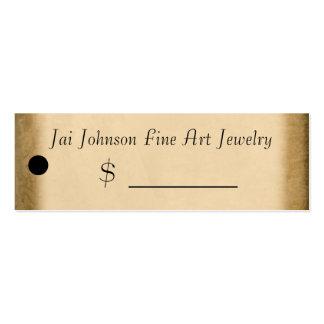 Precios de la mercancía (oro) tarjeta de visita