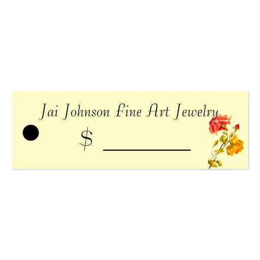 Precios de la mercancía (rosas del vintage) tarjetas de visita mini