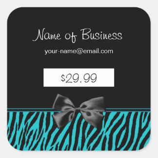 Precios de moda del estampado de zebra del negro y pegatina cuadrada