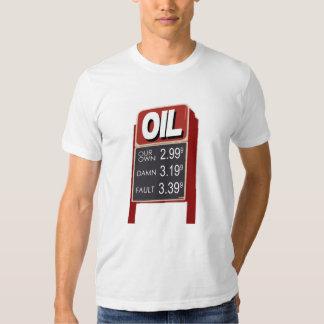 Precios del petróleo: Nuestra propia camiseta de Polera