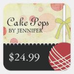 Precios modernos caprichosos de la panadería pegatina cuadradas personalizada