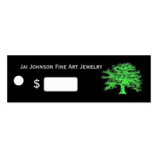 Precios verdes vivos de la mercancía tarjeta de negocio