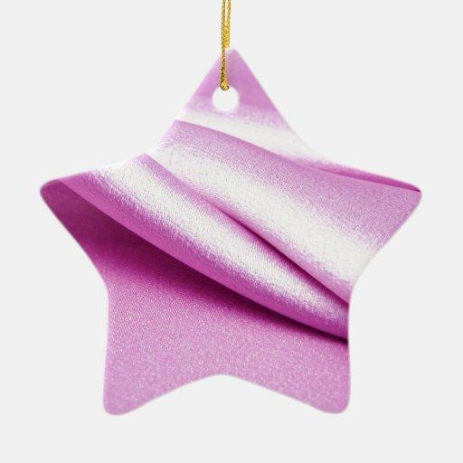 precioso elegante elegante de la materia textil de adorno de cerámica en forma de estrella