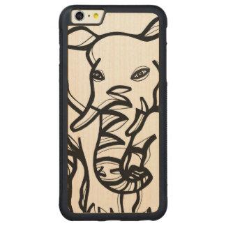 Precioso fabuloso listo animal funda de arce bumper carved® para iPhone 6 plus