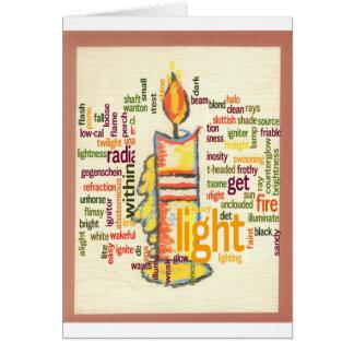 Precioso ligero tarjeta de felicitación