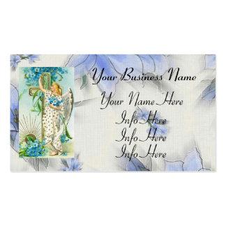 Precioso olvídeme no ángel tarjeta de visita