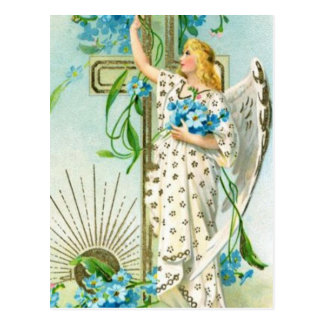 Precioso olvídeme no ángel postales