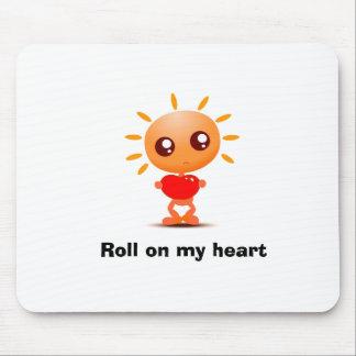 precioso, rollo en mi corazón mouse pads