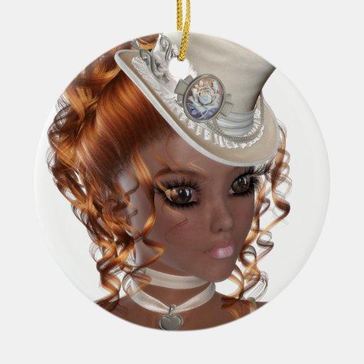 Precious African American Woman Ceramic Ornament | Zazzle