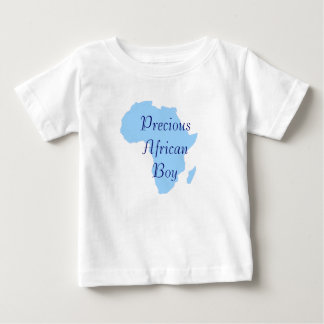 """Precious African Boy"" Blue African Continent Baby T-Shirt"